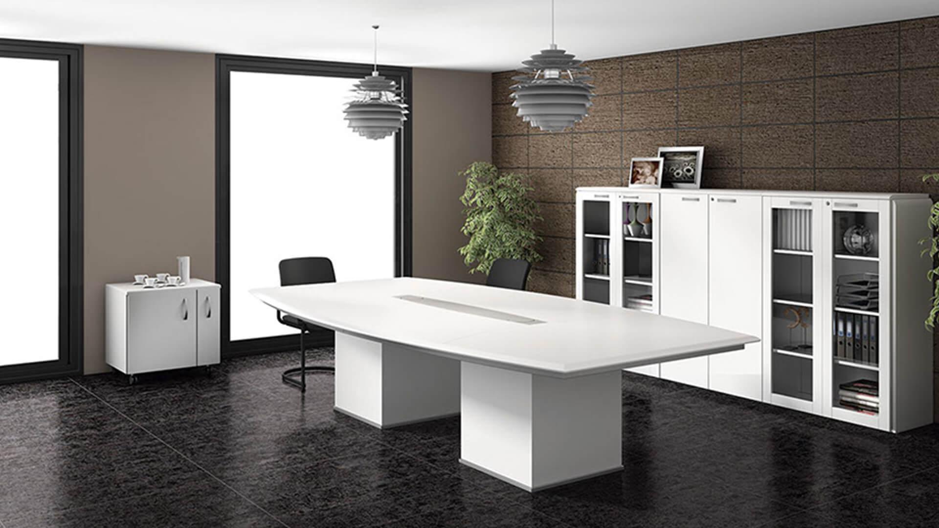 Mesa de reuniones Líder en color blanco