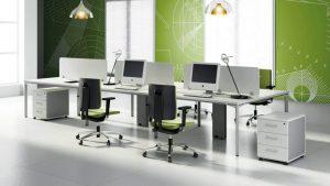 Mesa operativa Modul con amplia gama de accesorios