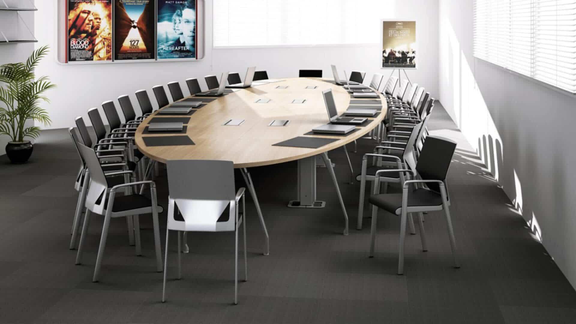 Mesa de reuniones Inspira con amplia capacidad
