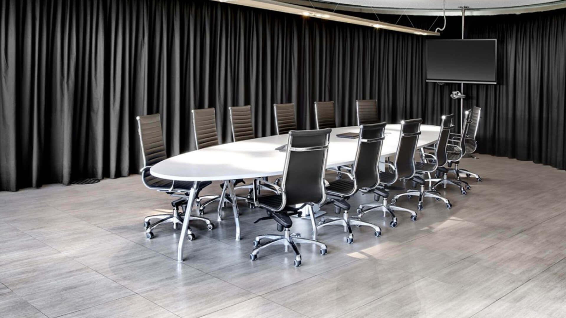 Mesa de reuniones Inspira en color blanco