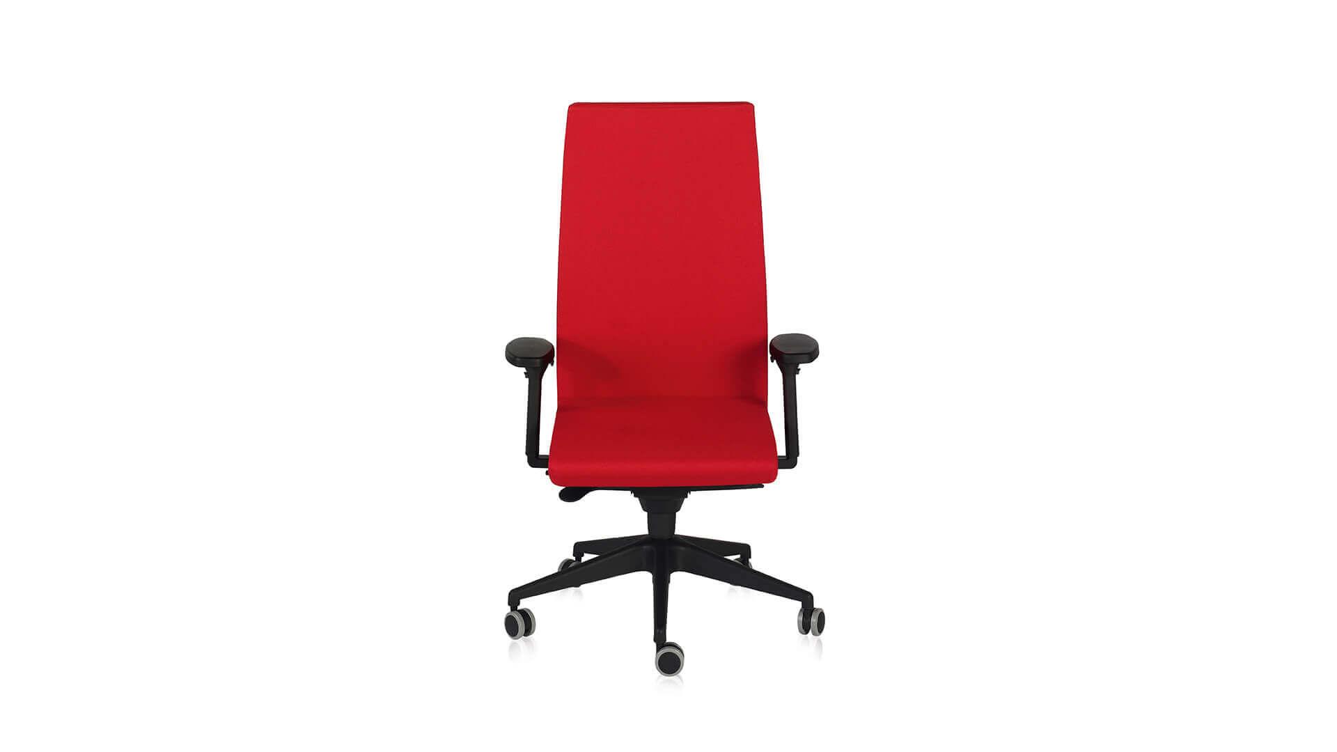 Silla dirección Neo+ roja ergonomica
