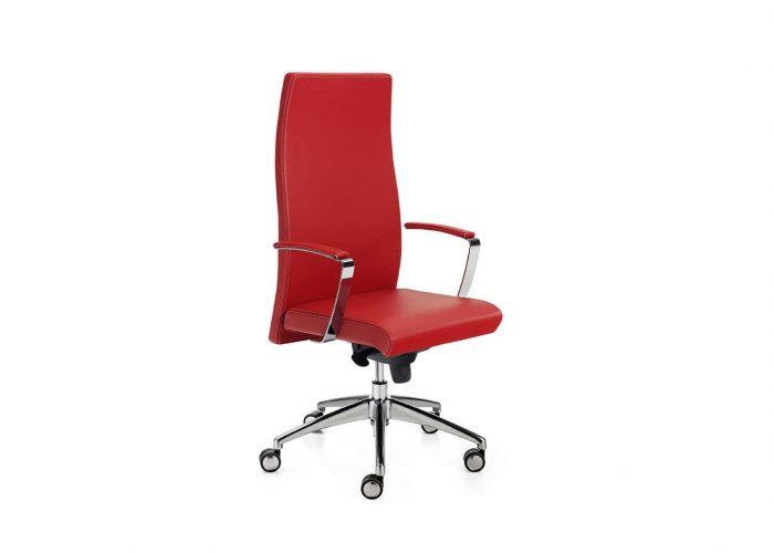 Silla dirección Neo+ roja minimalista