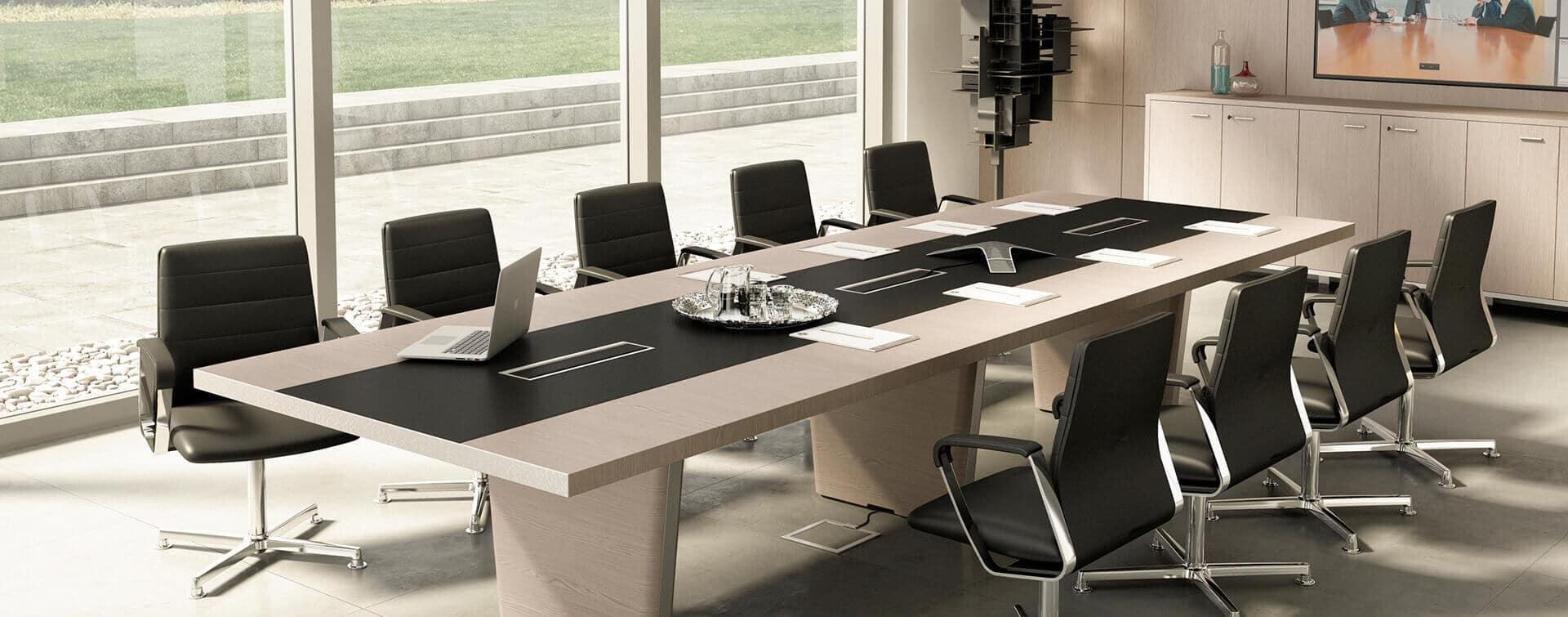 Ambiente moderno para reuniones productivas para el negocio