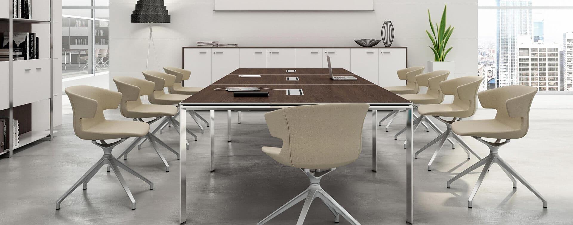 Ambiente de reuniones productivas futuro de la empresa