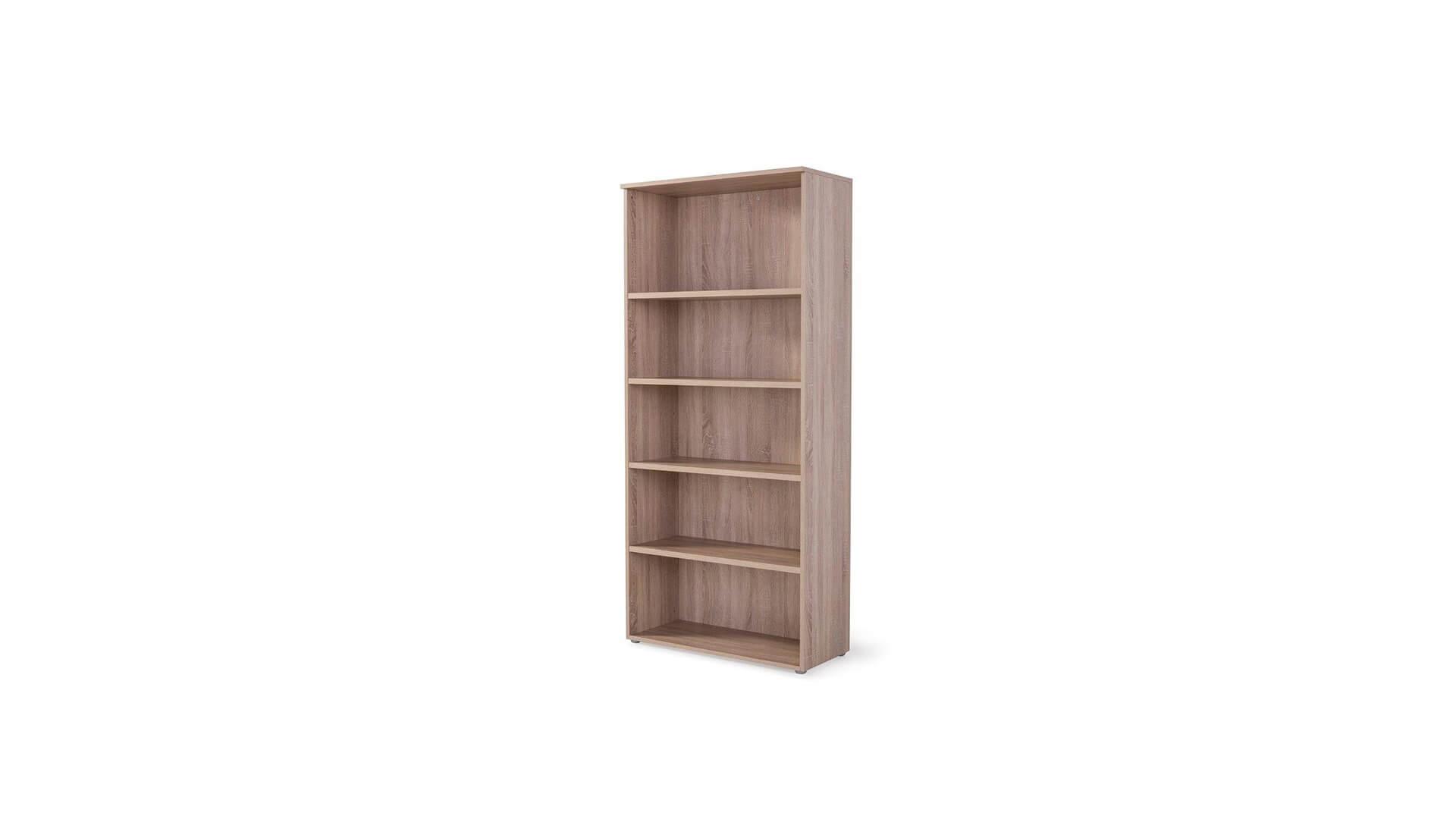 Armario alto abierto para oficina en madera laminada