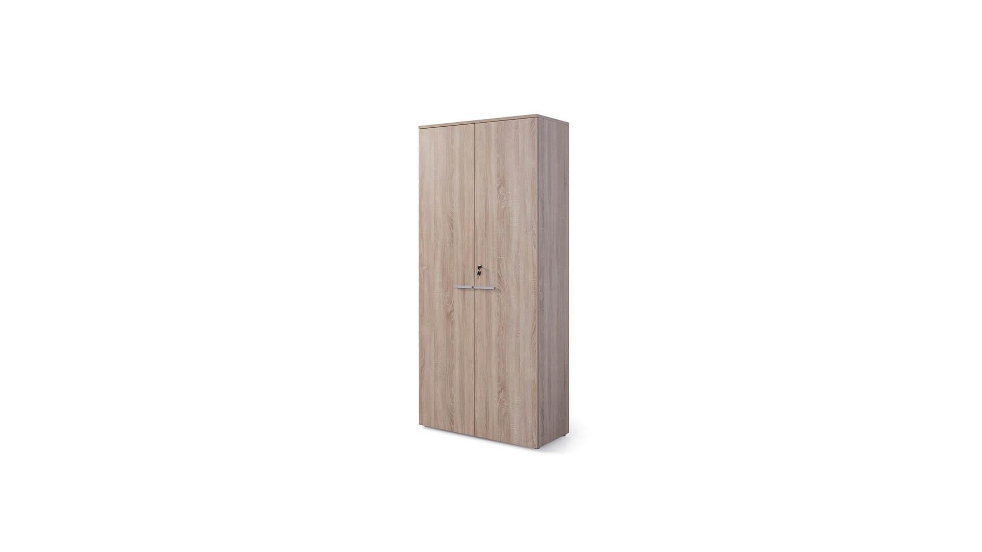 Armario alto cerrado para oficina en madera laminada