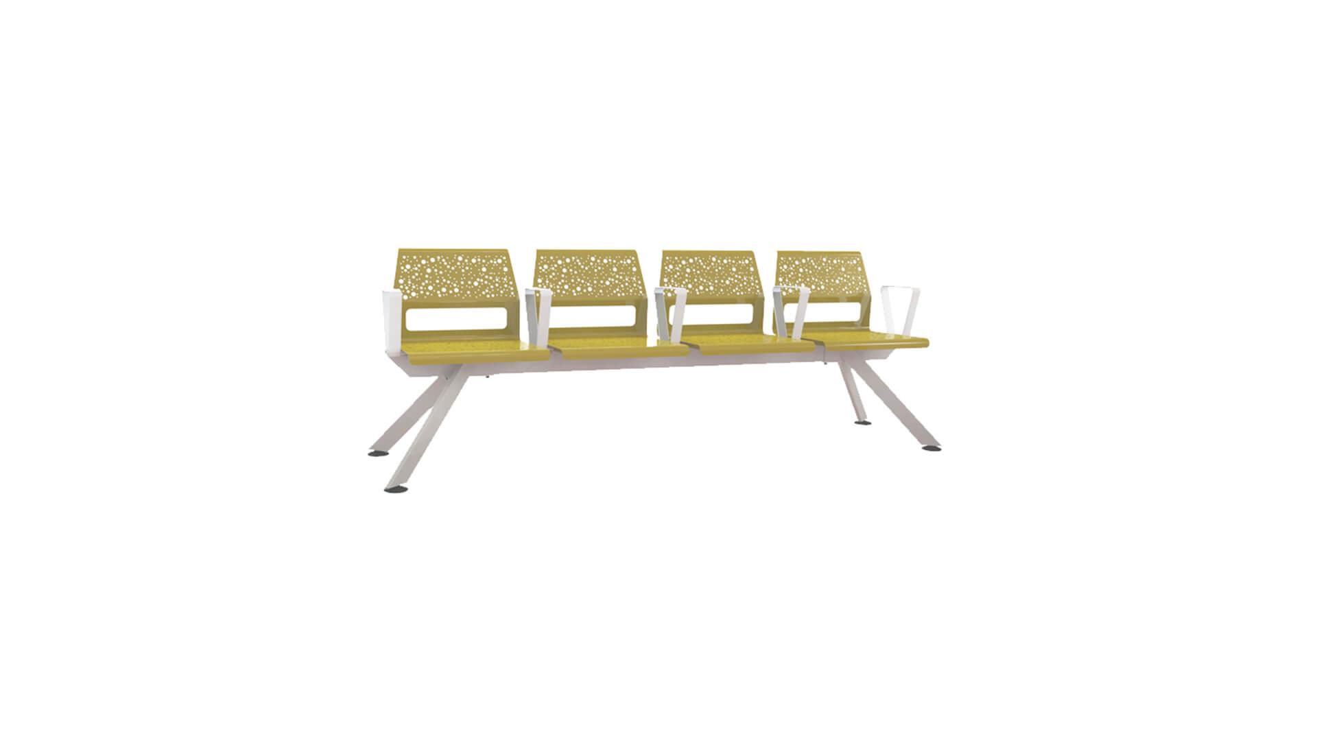 Bancada de asientos individuales con diseño moderno