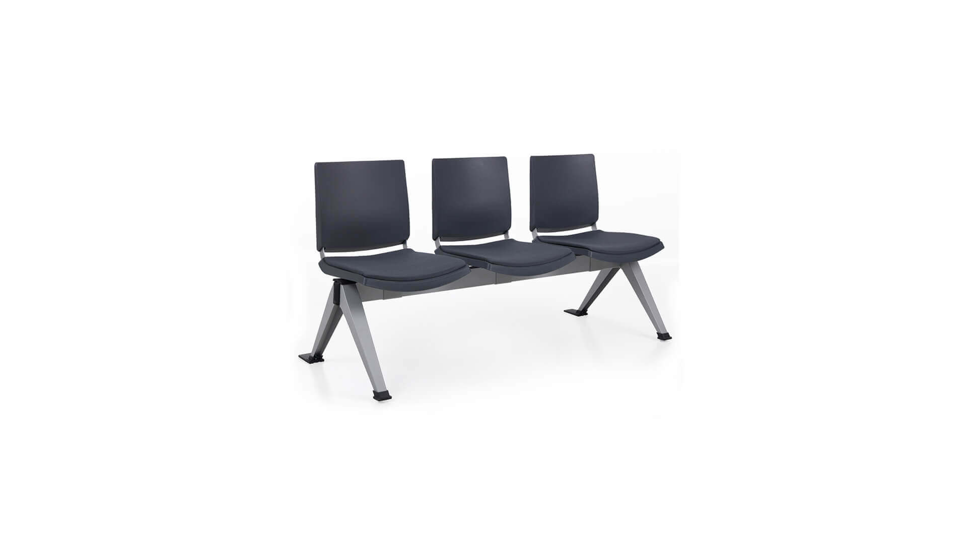 Bancada para salas de espera de 3 asientos