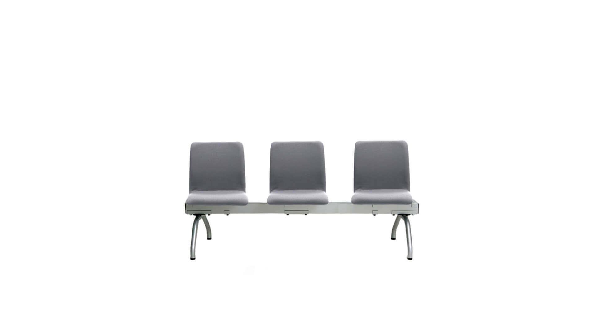 Bancada con 3 asientos funcional