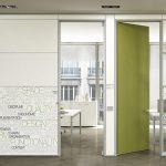 Mampara mixta para distribución de oficinas