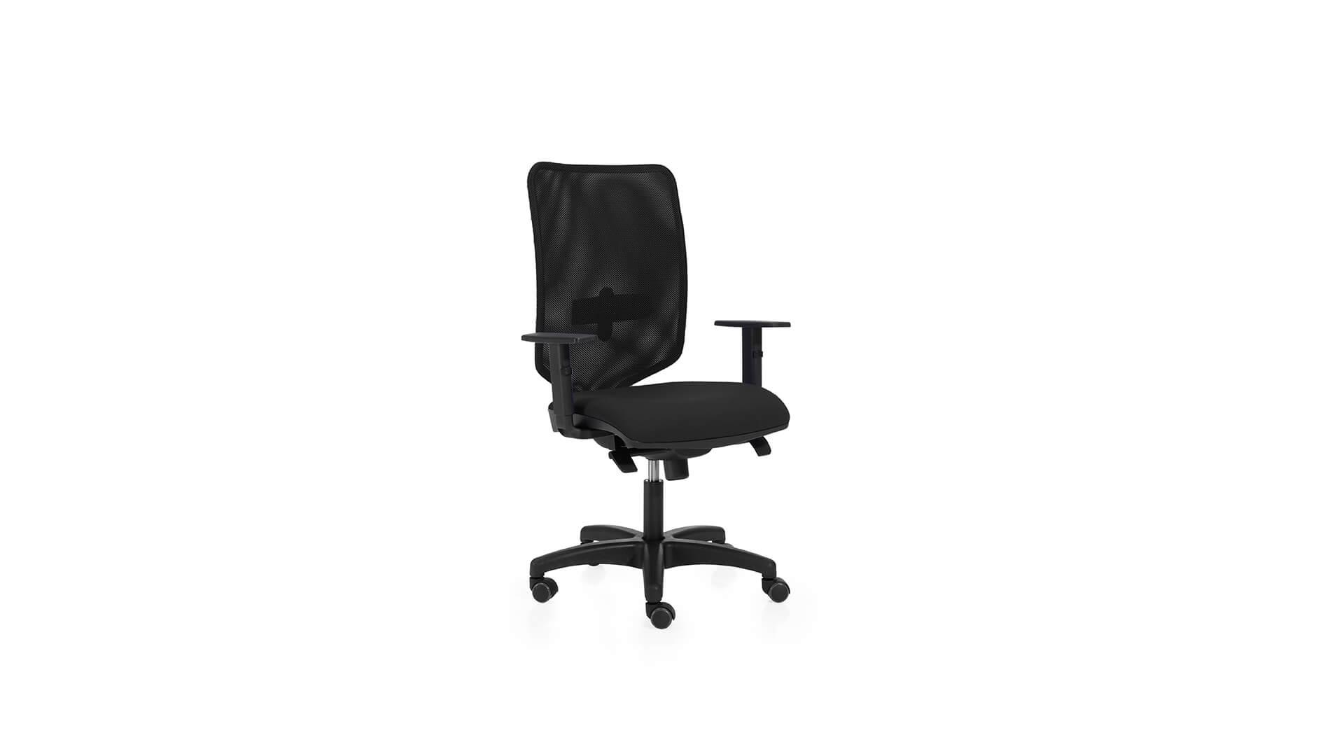 Silla ergonomica ligera en color negro