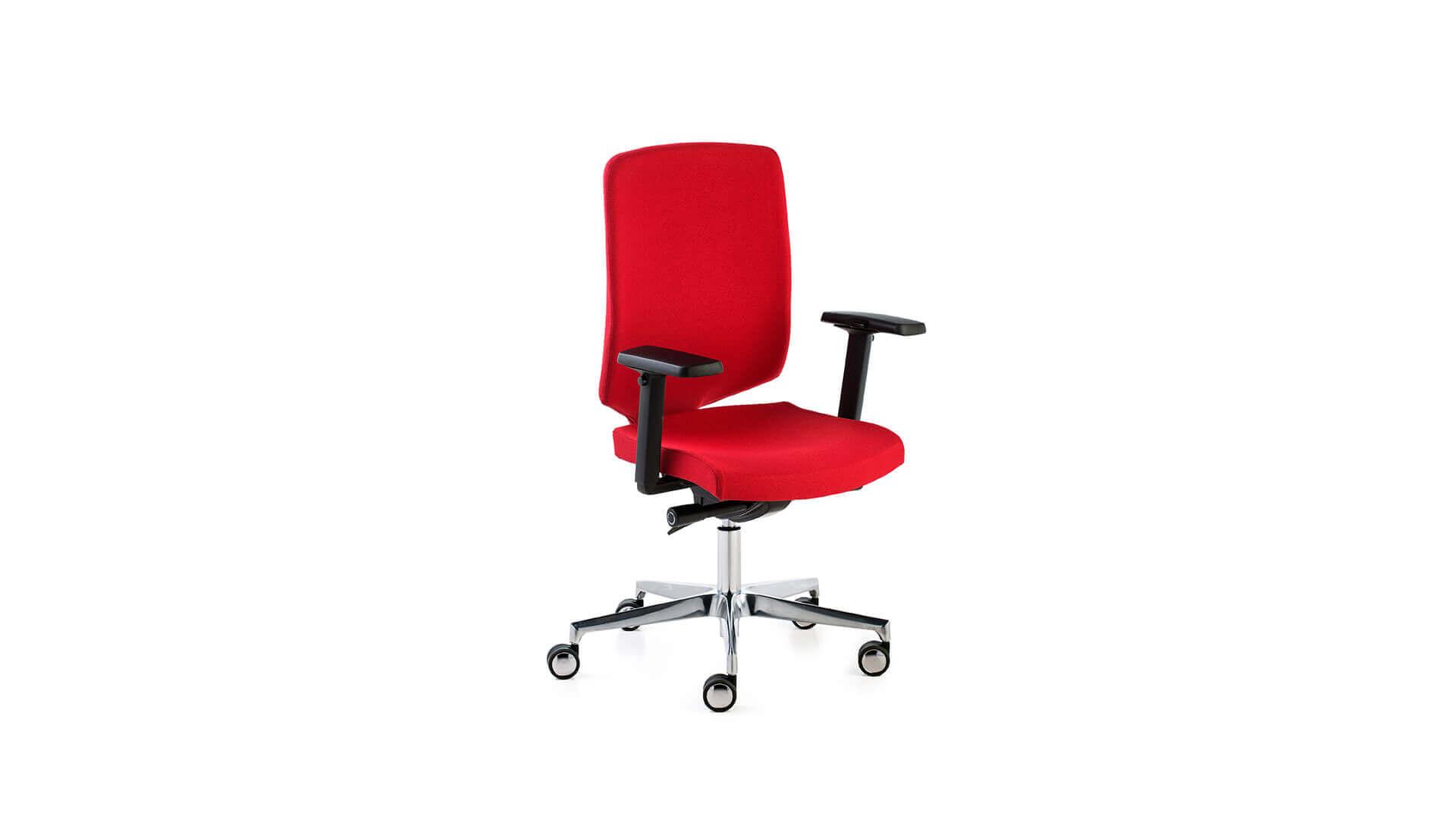 Silla operativa New Air Fox roja para oficina