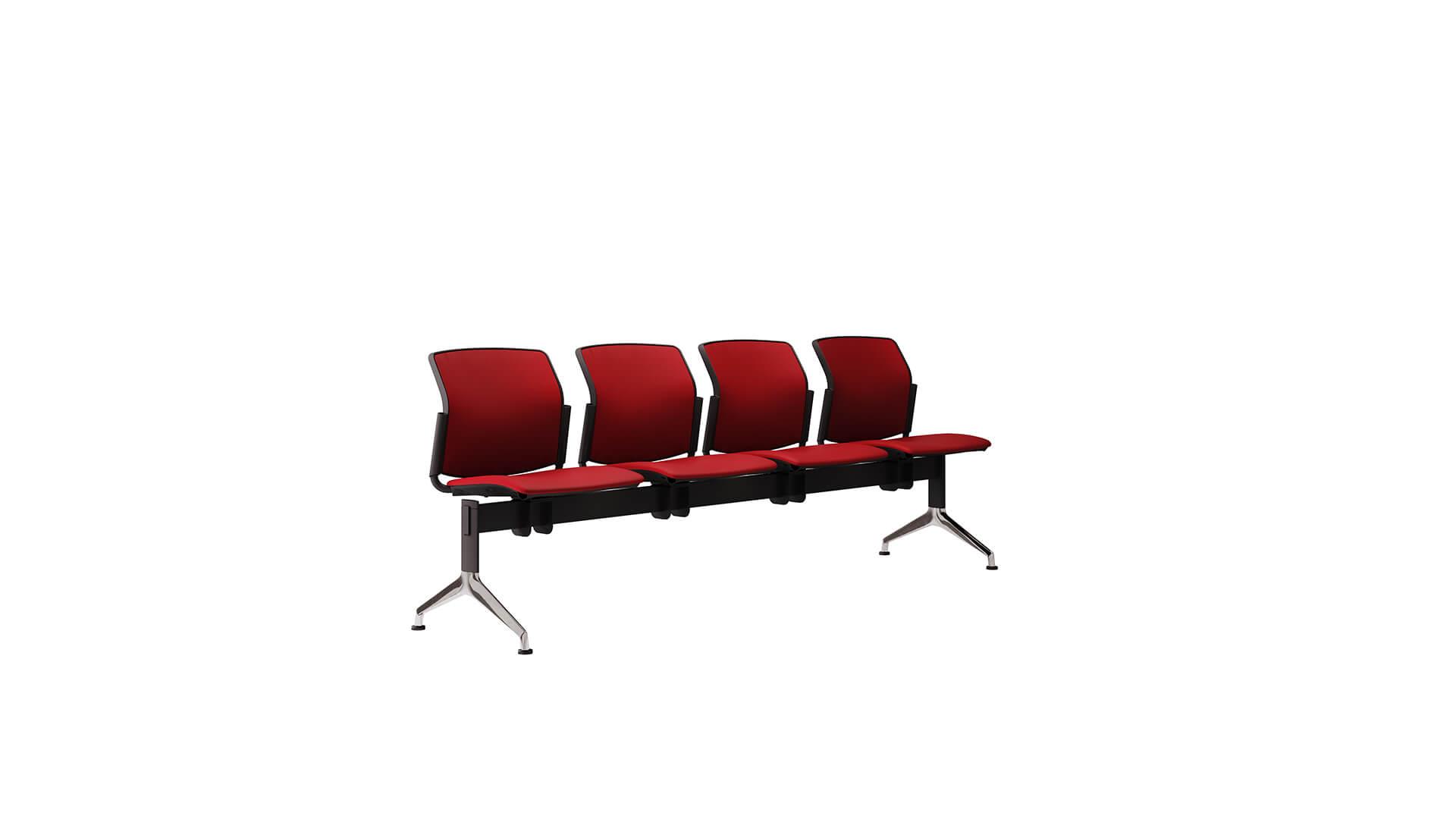 bancada de 4 asientos en linea