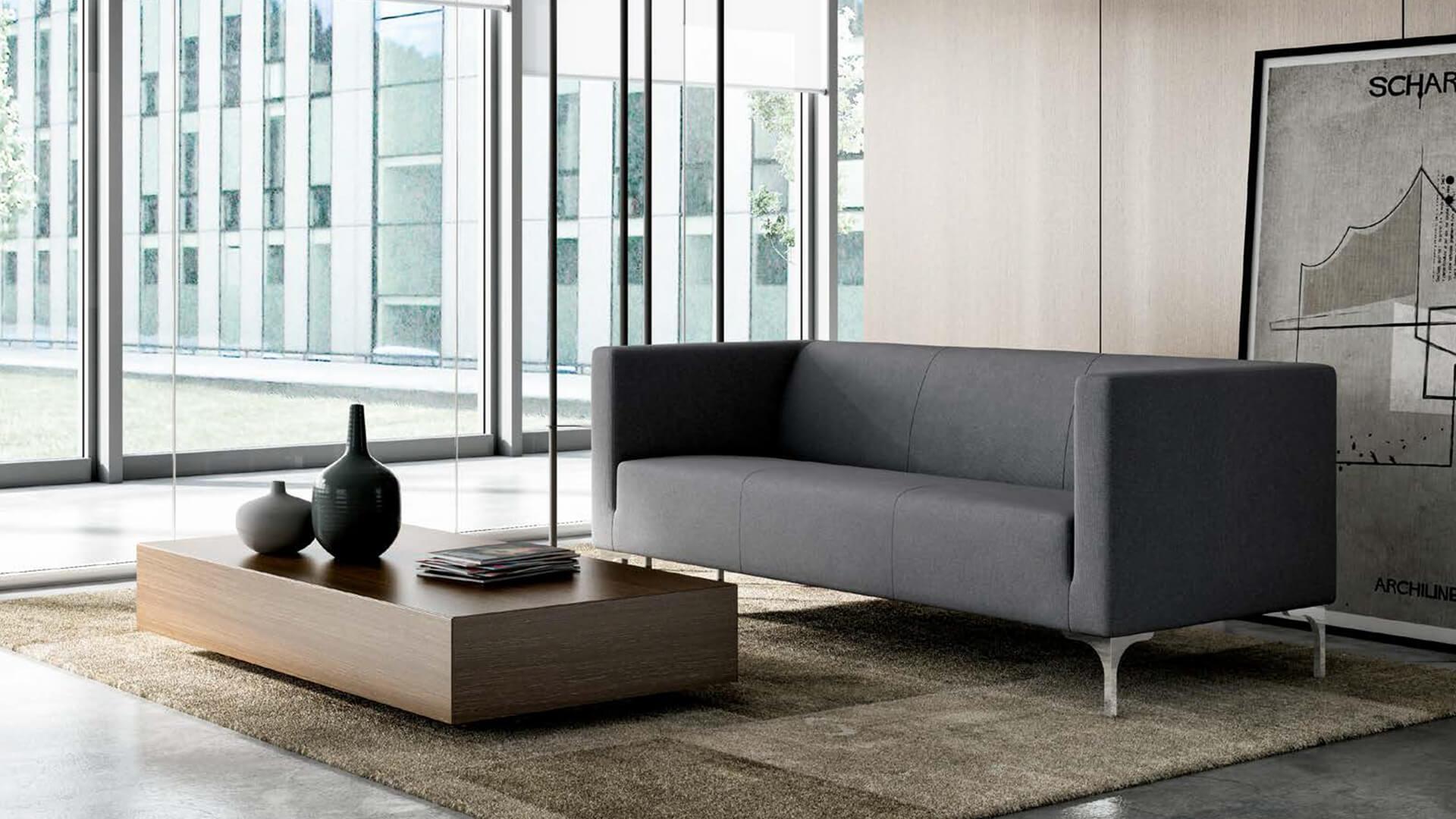 Sofá y sillón de espera moderno para oficinas