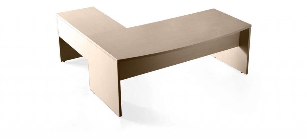 Mesa compacta con ala en madera