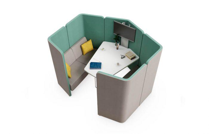 Espacio flexible para reuniones improvisadas