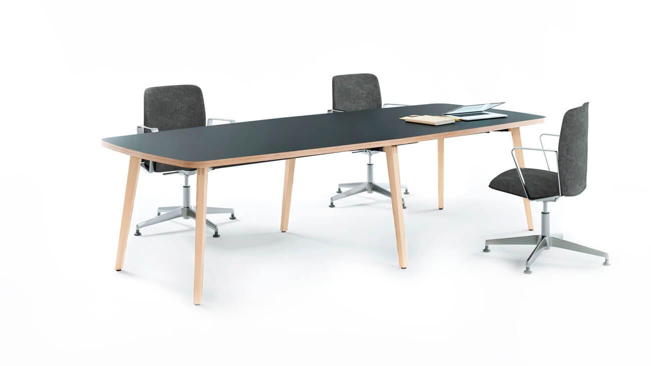Mesa de juntas de madera de haya