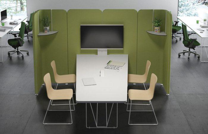 Área de reuniones flexible