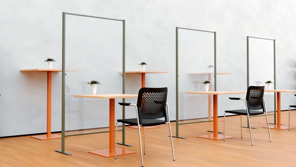 Biombo de protección para oficinas