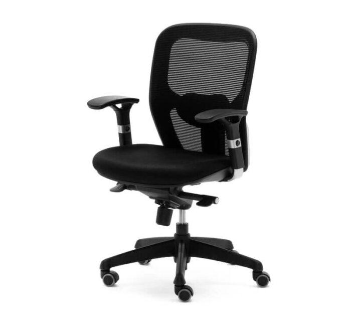 silla ergonómica operativa en color negro
