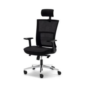 Silla operativa de oficina en color negro