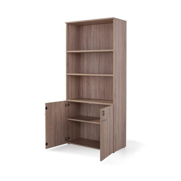 Armario laminado con puertas para almacenaje en oficina, negocios y casa