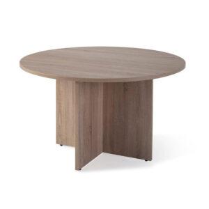 Mesa de reuniones redonda de madera