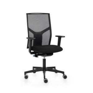 Silla oficina ergonomica con respaldo transpirable